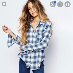 Hollister Blue/White Flannel